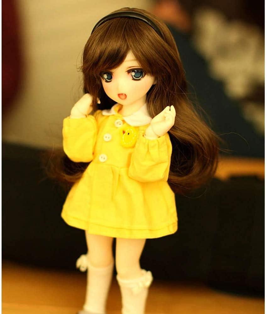 AMITD SD muñeca 2020.1/6 BJD BJD muñeca articulación esférica niños muñeca muñeca Conjunto de Juguete con Peluca Ropa Maquillaje Zapatos Amarillo