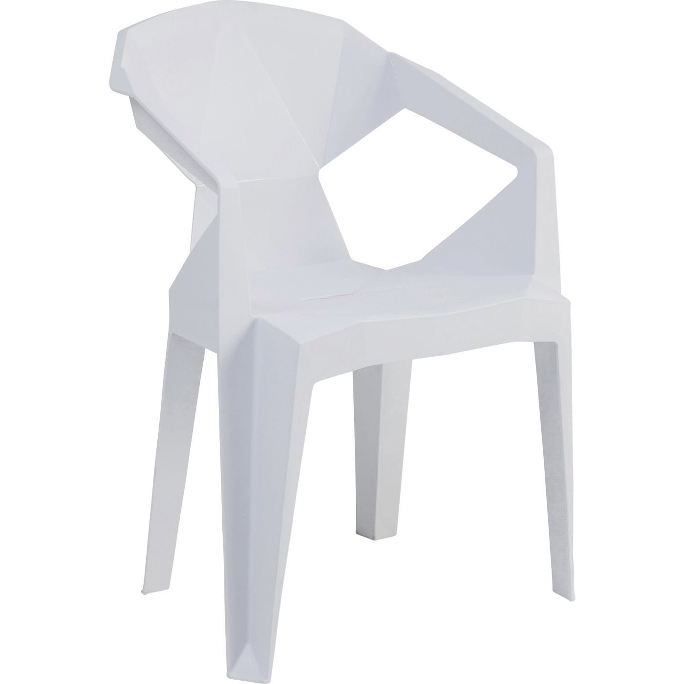 Chaise Origami Géometrial Blanche Salle à manger Kare Design
