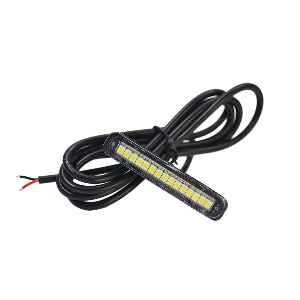 1 lampe LED é tanche pour é clairage de plaque avec 15 ampoules LED blanches, phare de freinage pour voiture, camping-car, SUV, moto, vé lo vélo KINGSHOW