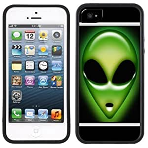 Alien Face We Are Not Alone Handmade iPhone 5C Black Case by supermalls