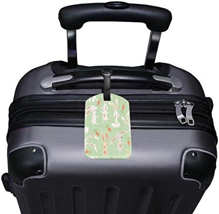 Saobao Travel Luggage Tag Cute Bunny PU Leather Baggage Travel ID