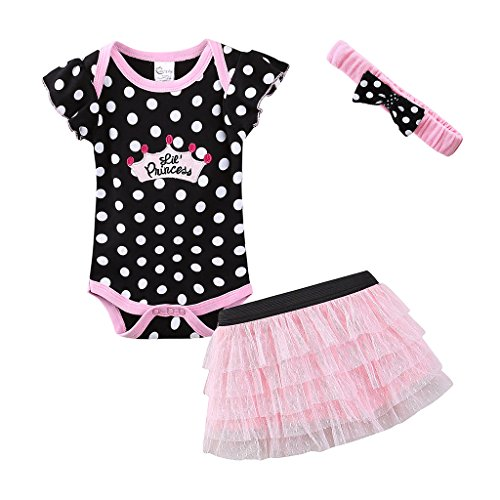 Mud Kingdom Cute Thanksgiving Baby Girl Outfits 3-6 Months Clothes Sets LIL' Princess 6M Polka Dot