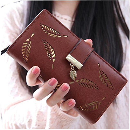 Fami femmes Fahion Feuille Clutch Carte Purse Holder rw7rq