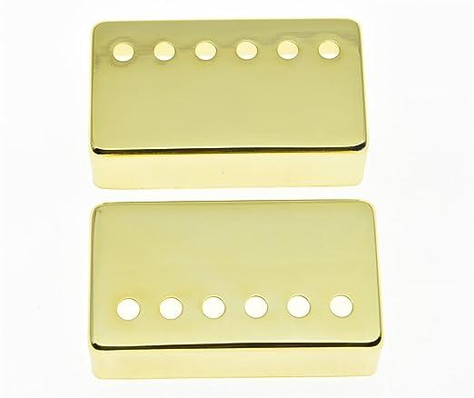 Cubiertas para pastillas Humbucker, de la marca Kaish, para guitarras Les Paul, en metal dorado: Amazon.es: Instrumentos musicales