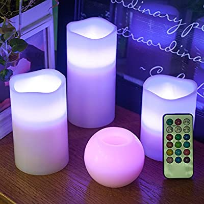 Honeyall LED Flameless Candle Kits with Remote Controller