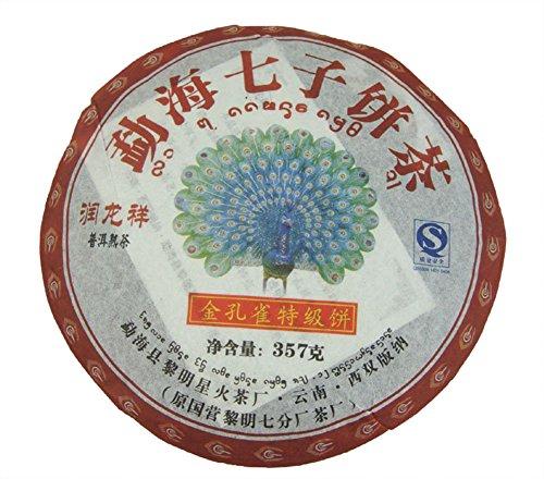 AmaranTeen - 357g Gold Peacock Puerh Tea,2006 year Puer, - Peacock 357