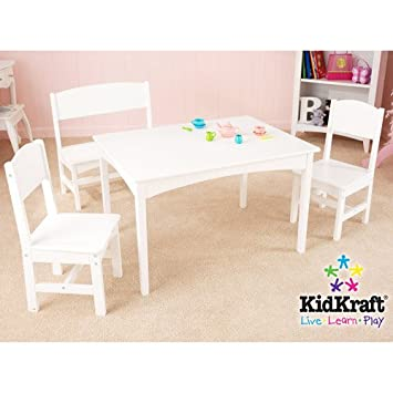 Groovy Amazon Com Kidkraft Nantucket Long Table With Bench And 2 Machost Co Dining Chair Design Ideas Machostcouk