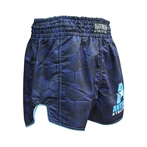 NEW! 10+ Styles - Anthem Athletics RECKONER Retro Muay Thai Shorts - Kickboxing, Thai Boxing, MMA - Blue Hex - Medium