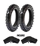 ProTrax Motocross Front 2.50-10 & Rear 2.50-10 Tires w/ 2 HD Tubes 2.50/2.75 x 10'' Combo Kit - Soft/Intermediate Terrain