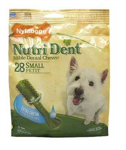 Nylabone Nutri Dent Extra Fresh 28 Count Pouch, Small for Dogs up to 25-Pound, My Pet Supplies