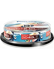 Philips DVD+R Rohlinge (8.5 GB Data/240 minuten video, 8x High Speed Opname, 10er Spindel, dubbellaags DL) 10er