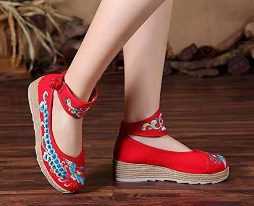 Avacostume Scarpe Da Donna Con Cinturini Alla Caviglia Con Trapuntatura A Caldo E Scarpe Rosse