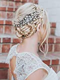 Unicra Wedding Shinning Crystal Hair Combs Bridal Headpieces Wedding Hair Accessories for Brides (Silver)