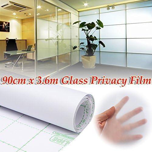 Queenwind 0.9 x 3.6 m プライバシー PVC ガラスフィルムつや消し窓ティント DIY ホームオフィスストア