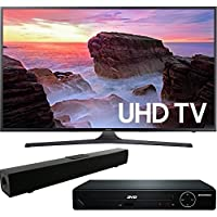 Samsung UN50MU6300 50' 4K Ultra HD Smart LED TV (2017 Model) with HDMI 1080p High Definition DVD Player and Solo X3 Bluetooth Sound Bar Bundle