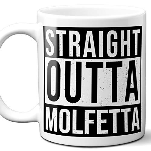 (Straight Outta Molfetta Italy Souvenir Gift Coffee Mug. Unique I Love Italian Italia City Town Lover Coffee Tea Cup Men Women Birthday Mothers Day Fathers Day Christmas. 11 oz.)