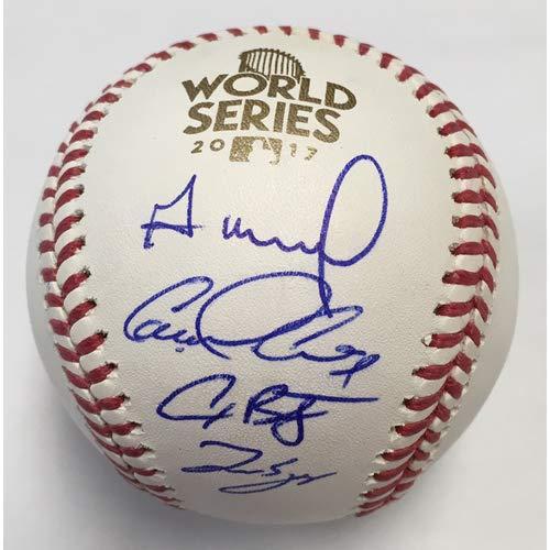Jose Altuve George Springer Alex Bregman Carlos Correa Houston Astros 4 Signatures Signed Autograph Official MLB Baseball Tristar & JSA Witnessed Certified All Star Baseball Ball
