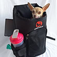 New Designer All In One Small Pet Carrier Backpack For Cat, Dog Puppy or Kittens Up 20 lbs Airline Travel Approved. A Portable Foldable Collapsible Bag For Convenience And Comfort.