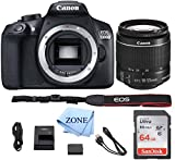 Canon EOS T6 / 1300D with EF-S 18-55mm 18.7MP CMOS 5184 x 3456 Pixels (Black) + 64GB SD Card + Digital Camera Cleaning Cloth Review