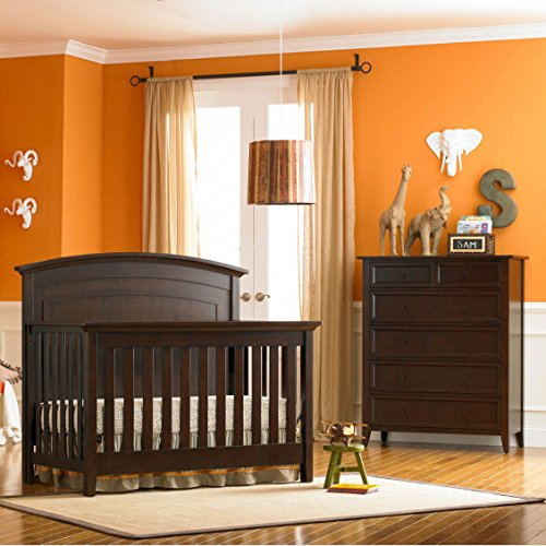 Dolce Babi Primo Crib Full Size Conversion Kit Bed Rails in Espresso by Dolce Babi (Image #2)