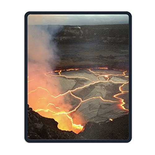 Volcanic Eruptions Mouse Pad with Stitched Edges, Non-Slip Rubber Base Mousepad for Laptop