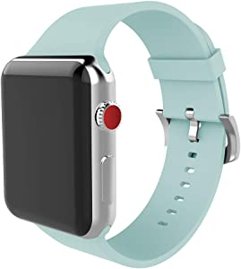 BMBEAR Sports Bands Compatible Apple Watch Band 38mm 40mm Soft Silicone Replacement iWatch Strap for Apple Watch Series 6 Series 5 Series 4 Series 3 Series 2 Series 1