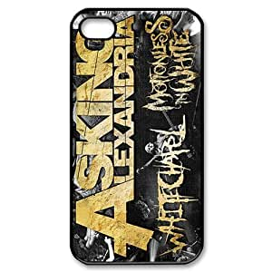 Custom Asking Alexandria Phone Case Cover Protection for iphone 4 4s TPU