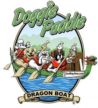 Doggie Paddle - Dragon Boat T- Shirt - Large