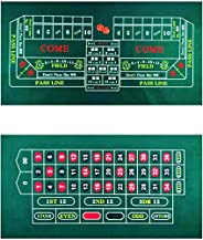 """BALIKEN Tabletop Casino Felt 2-Sided 36""""x18"""" for Craps and Roulette,Washable an"""
