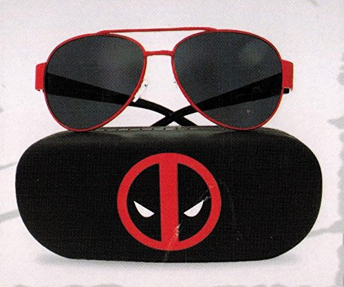 Deadpool Sunglasses with Hard Case Loot Crate DX August 2016 - Sunglasses Exclusive