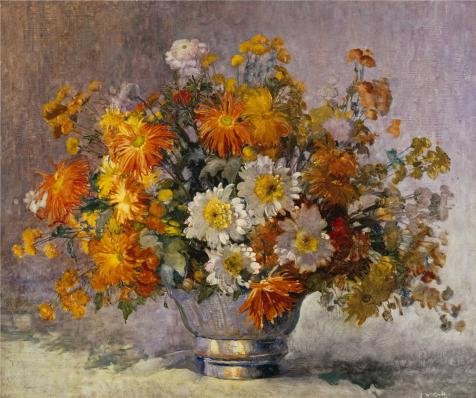 [Oil painting 'John William Orth,Chrysanthemums,1889-1976' printing on Perfect effect Canvas , 20x24 inch / 51x61 cm ,the best dining Room artwork and Home decor and Gifts is this Replica Art DecorativePrints on] (Sexy Sequin Kitty Costumes)