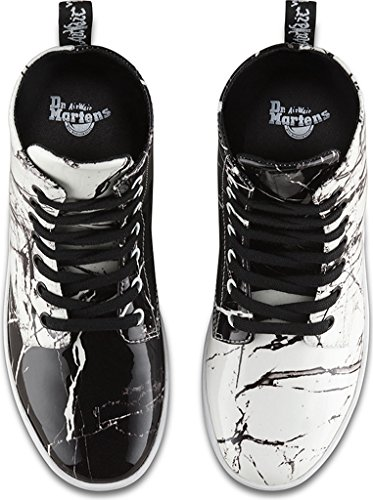 Martens Marble Black Combat Patent Leyton Womens Boot Dr qf7xaa