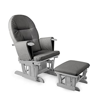 deluxe padded smooth gliding nursing chair foot stool with 7