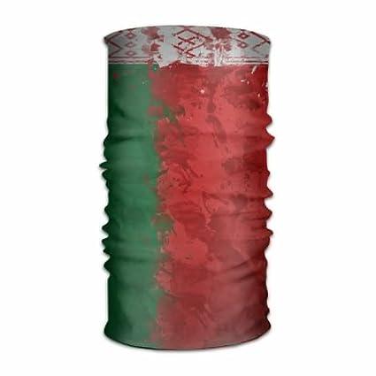 OHMYCOLOR Bielorrusia Bandera Ruso Pintura Manchas Diadema Hombre Mujer Diadema Pañuelo Cuello Pañuelo Multifunción Diadema Magic