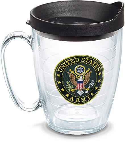 Tervis 1301959 U.S. Army Logo Insulated Tumbler with Emblem and Lid, 16 oz, - Travel Mug Oz 16 United
