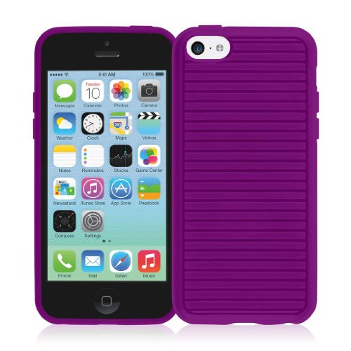 EMPIRE GRUVE Full Schutz TPU Case Tasche Hülle for Apple iPhone 5C - Purple (Displayschutzfolie Film