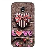 PrintVisa Love Heart Pattern 3D Hard Polycarbonate Designer Back Case Cover for Samsung Galaxy J3(2017) :: Galaxy J3 (2017) :: Samsung Galaxy J3 Pro (2017) :: Samsung Galaxy J3 (2017) Duos :: J330F