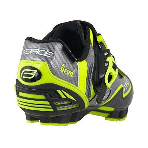 Force - Zapatillas de ciclismo de Material Sintético para hombre fluo-gelb