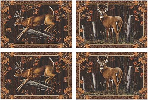 Edge Placemats - River's Edge 4 Piece Deer Placemat Set