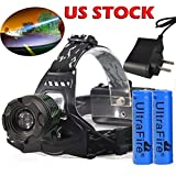 10,000LM UltraFire High Power Headlamp XM-L T6 LED Head Light +18650+Charger USA