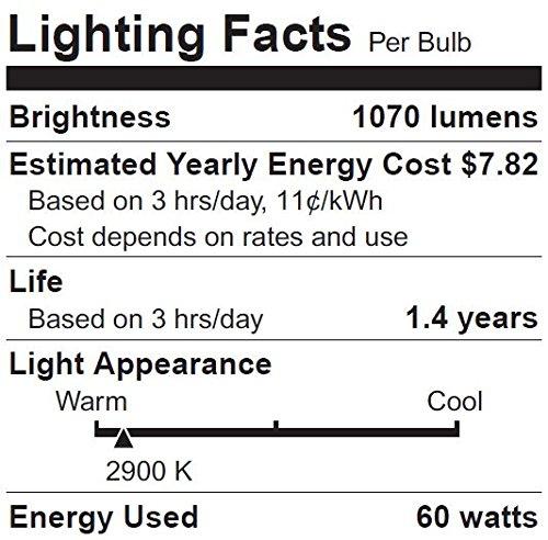 SYLVANIA Capsylite Short Neck Halogen Bulb Dimmable/PAR38 Reflector Narrow Flood Light/Replacement for halogen lamps 75W/Medium base E26/60 Watt/2900K – warm white, 6 Pack by Sylvania Home Lighting (Image #1)