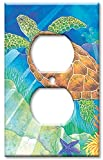 nautical wall covers - Art Plates - Sea Turtle Switch Plate - Outlet Cover