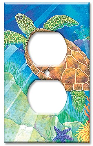 Light Switch Cover Art (Art Plates - Sea Turtle Switch Plate - Outlet Cover)