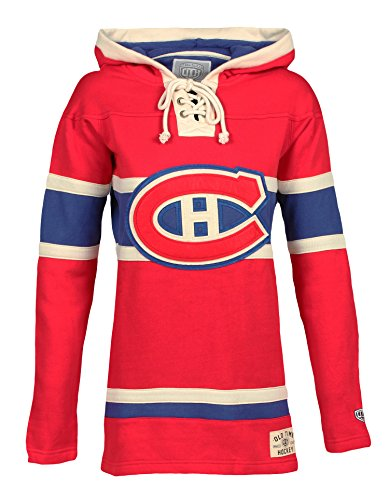(Old Time Hockey NHL Montreal Canadiens Women's Lacer Heavyweight Hoodie, Large,)