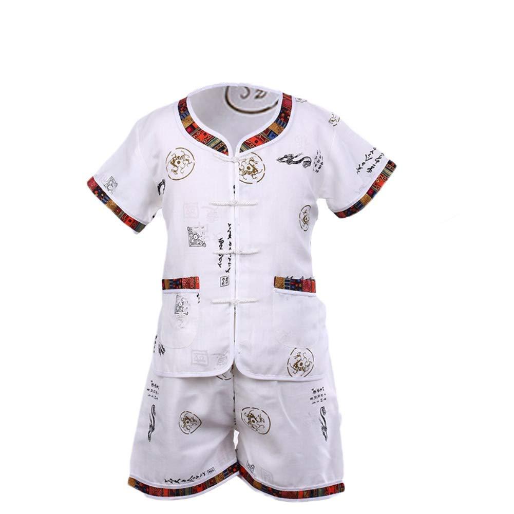 8c8f54da0d343 Wongfon Enfant Enfants Tang Chinois Style Shirt et pantalon à manches  courtes Vêtements Suti Set pour ...