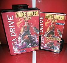 MD games card - Duke Nukem 3D Japan Cover with Box and Manual for MD MegaDrive Genesis Video Game Console 16 bit MD card - Sega Genniess - Sega Ninento, 16 bit MD Game Card For Sega Mega Drive