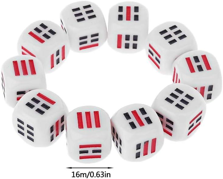 Kuvuiuee - Juego de 10 piezas de cubos de 16 mm para juego de tarjetas de mesa, diseño de polihedral, color transparente: Amazon.es: Hogar