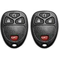 2 QualityKeylessPlus 4 Button Remote Start Key Fob Replacement For FCC ID: KOBGT04A Keyless Entry FREE KEYTAG
