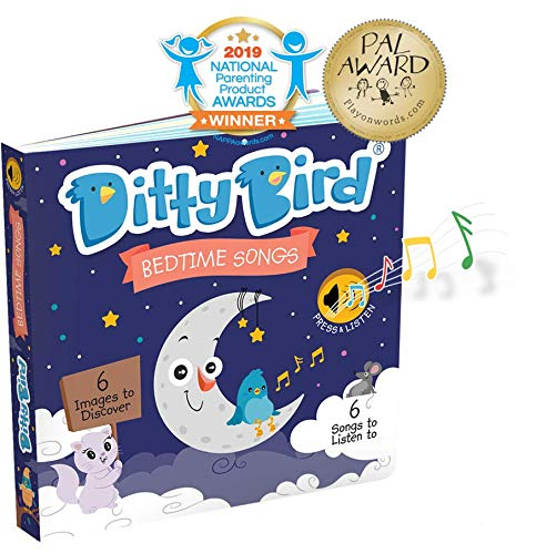 (Ditty Bird Our Best Interactive Bedtime Songs Book for Babies. Interactive Musical Book for Toddlers. Educational Music Toys for 1 Year Old. Sound Books for one Year Old Boy Girl Gift)