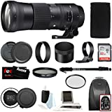 Sigma 150-600mm 5-6.3 Contemporary DG OS HSM Lens for CANON DSLR Cameras 745101 w/USB Dock + 32GB SD Card Advanced Photo & Travel Bundle